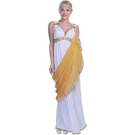 EraSpooky Disfraz de Diosa Griega Antigua para Mujer Traje ...