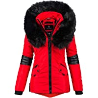 Navahoo B369 Winterjas voor dames, designer parka, kunstbont, winterjas