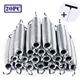 """PARTYSAVING 20pc 7"""" Trampoline Spring Galvanized Steel Replacement Free T-hook"""