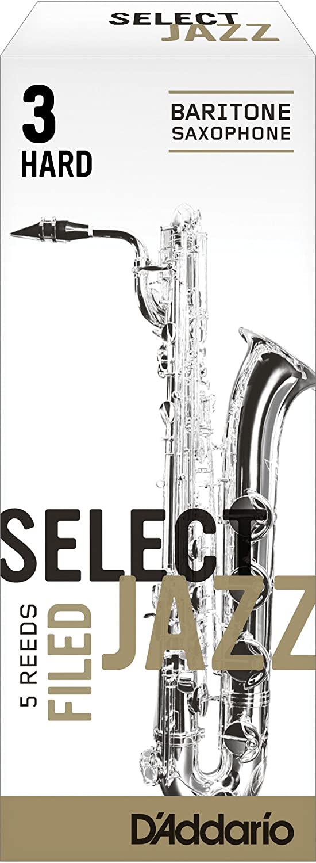 Strength 4 Hard Rico Select Jazz Baritone Sax Reeds 5-pack Filed