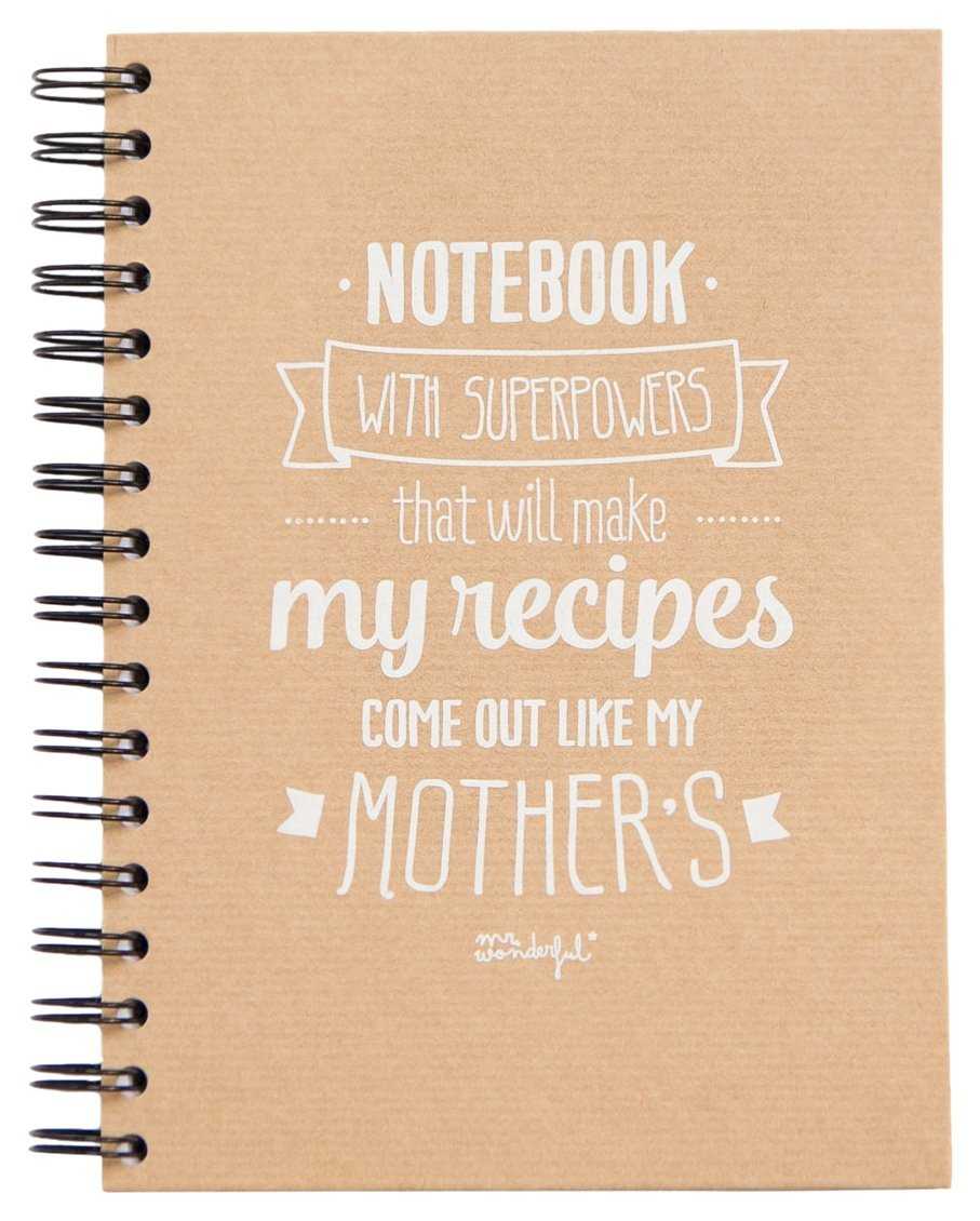 Mr. Wonderful Taccuino, Notebook Whith Superpowers That Will Make My Recipes Come Out Like My Mother'S WOA03200