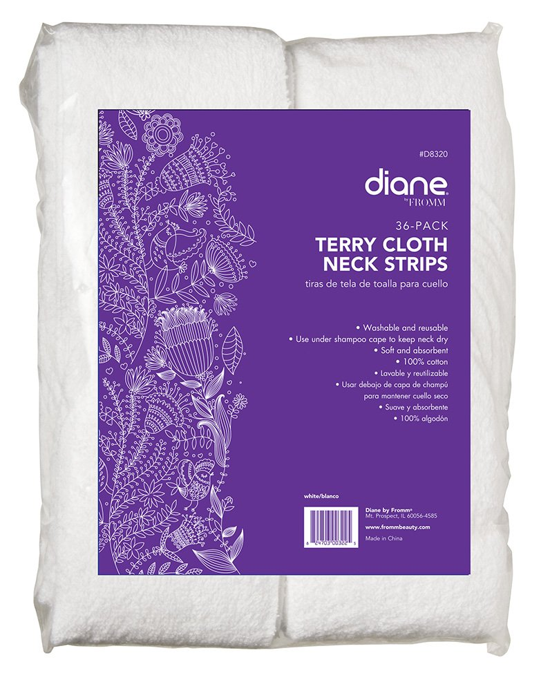 Amazon.com : Diane Terry Cloth Neck Strips, 36 Pack, D8320 : Hair Coloring Tools : Beauty