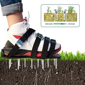 Wenhu Césped Hierba Aireador Spike Correa Zapatos Sandalia Revitalización Aflojamiento Equipo Jardín Patio Mañana Ejercicio Caminar: Amazon.es: Deportes y aire libre