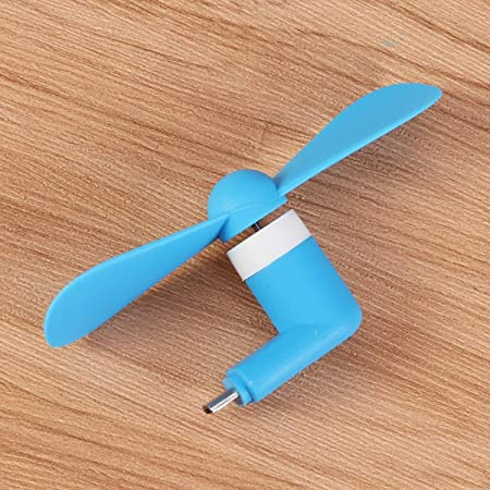 White HEMOBLLO Mini USB Portable Small Fan Mobile Power Laptop Mobile Phone Adapter for Android Micro Interface