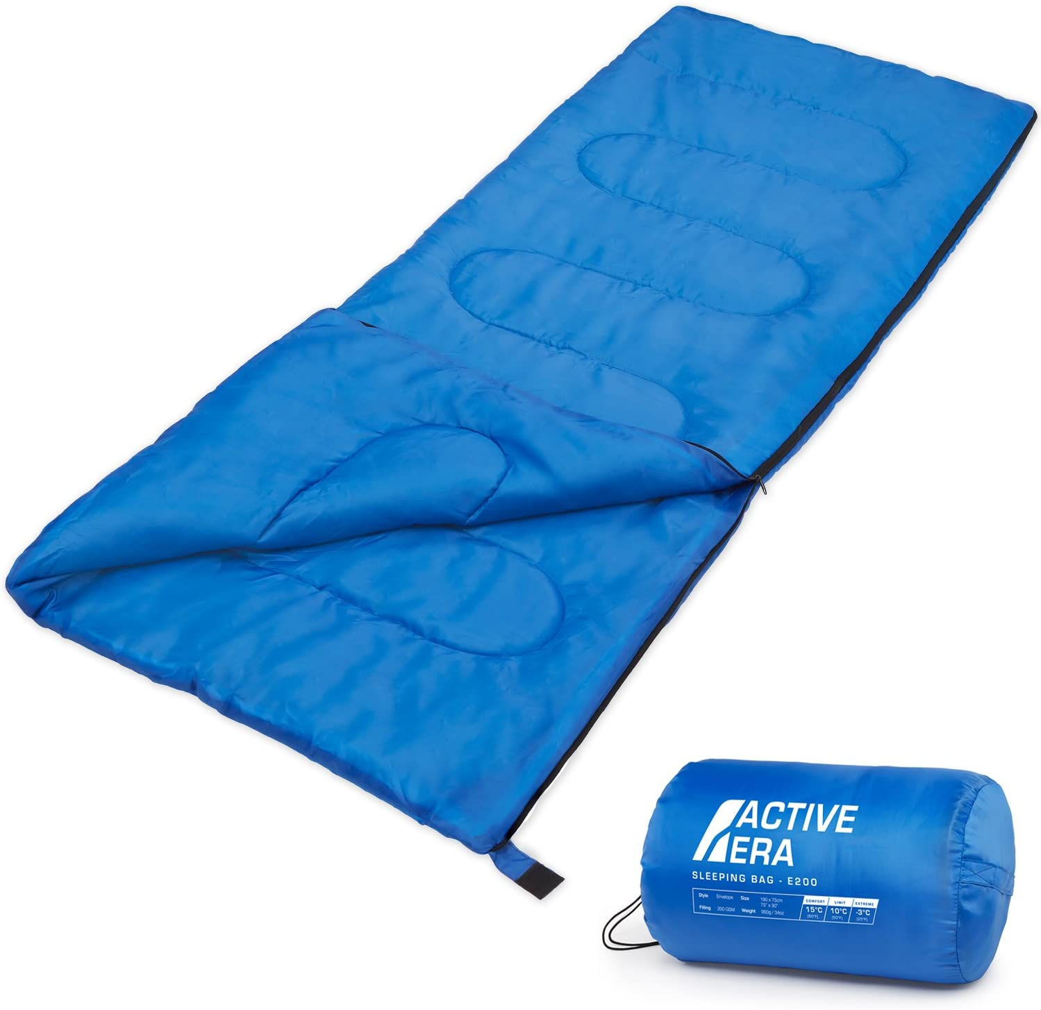 Active Era Saco de Dormir Premium 200, de Forma Rectangular ...