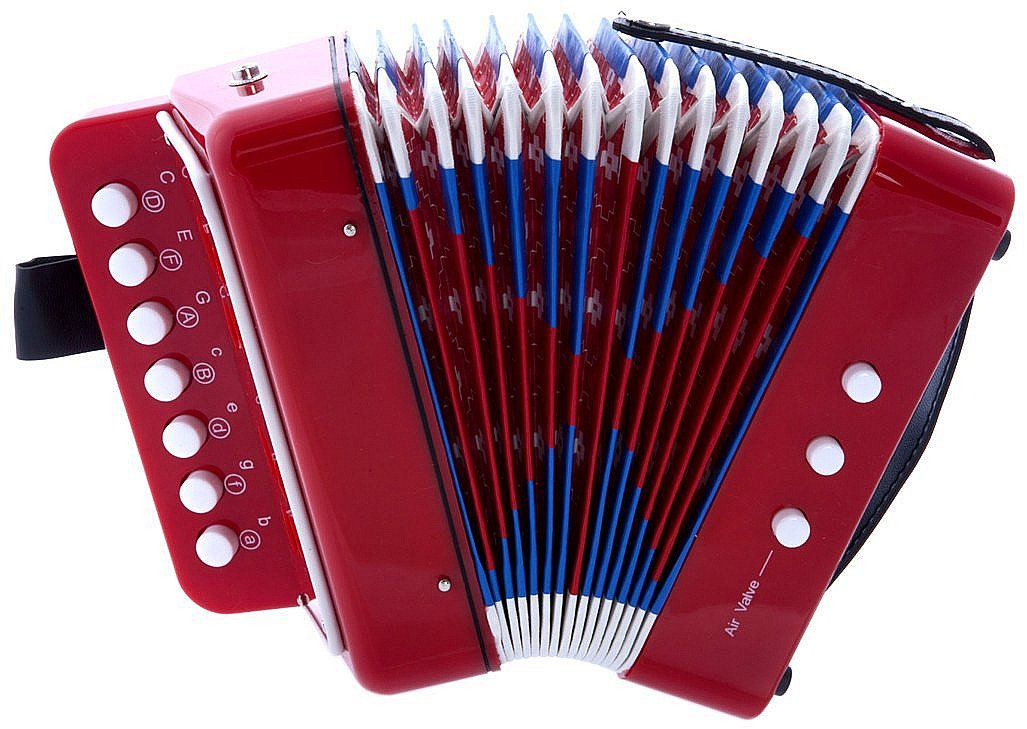 MAGIKON Children Button Accordion Toy , Also Nice As Performance Props (Red, Normal)
