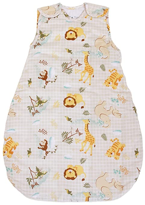 BABYINABAG Baby Sleeping Bag with Animal Pattern, 2.5 Togs Quilted Winter Model (Medium (10-24 mos))