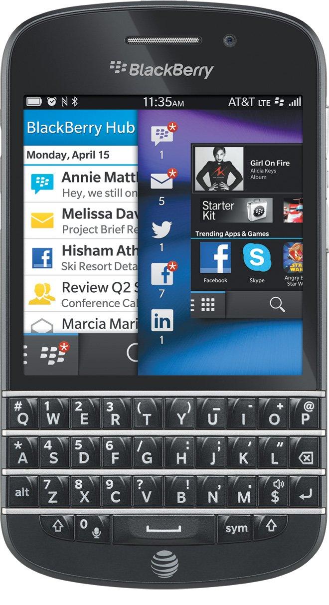 amazon com blackberry q10 black 16gb at t cell phones accessories