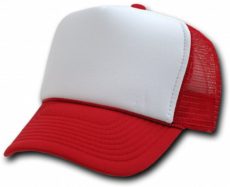 White Adjustable Snapback Classic Mesh Trucker Style Cap Caps Hat Hats