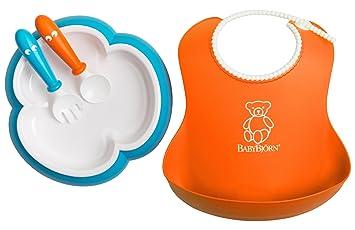 d8c41b5575b Amazon.com   Baby Feeding Set - Orange Soft Bib