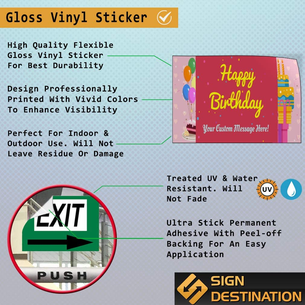 Custom Door Decals Vinyl Stickers Multiple Sizes Happy Birthday Boy Name Brown Holidays and Occasions Happy Birthday Outdoor Luggage /& Bumper Stickers for Cars Brown 30X20Inches Set of 10