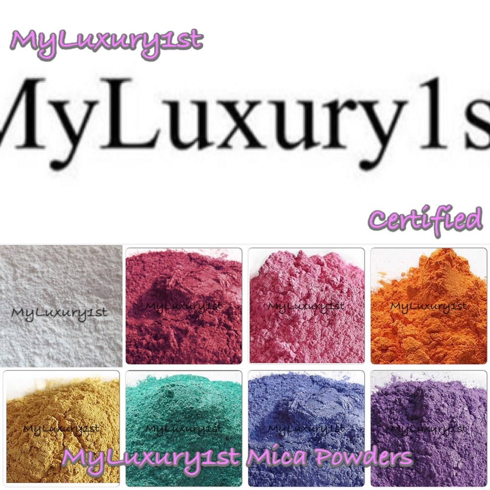 152 Grams of Mica Colorants Lot of 8 Cosmetic 19g Bags Each Soap & Craft Color Pigment Powders Blue White Teal Yellow Gold Fuschia HOT Pink Purple Orange Set