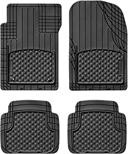 WeatherTech Universal Trim to Fit All Weather Floor Mats for Car, SUV, Automotive Vehicle - 4-Piece Set Black