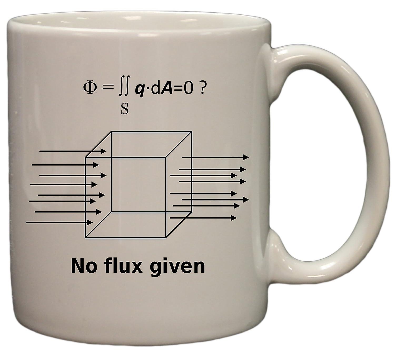 amazoncom no flux given funny science physics 11 oz ceramic coffee mug black kitchen u0026 dining
