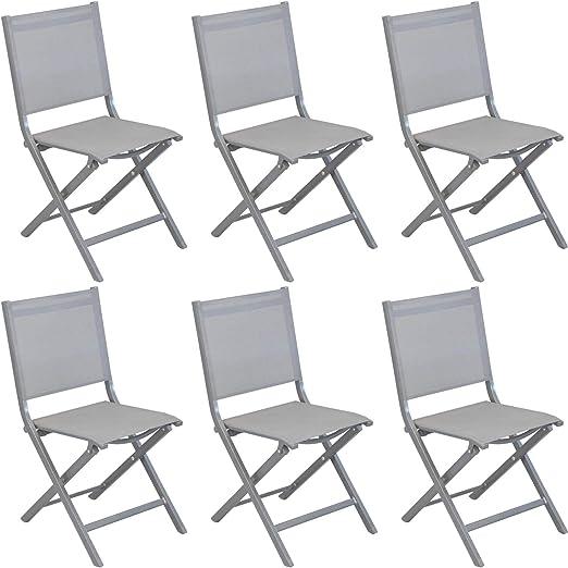 Chaise Thema ice/argent - Lot de 6 chaises: Amazon.fr: Jardin