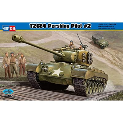 Hobby Boss T26E4 Pershing Pilot #2 Vehicle Model Building Kit: Toys & Games