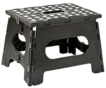 Folding Step Stool   11u0026quot; Wide   The Lightweight Step Stool Is Sturdy  Enough To