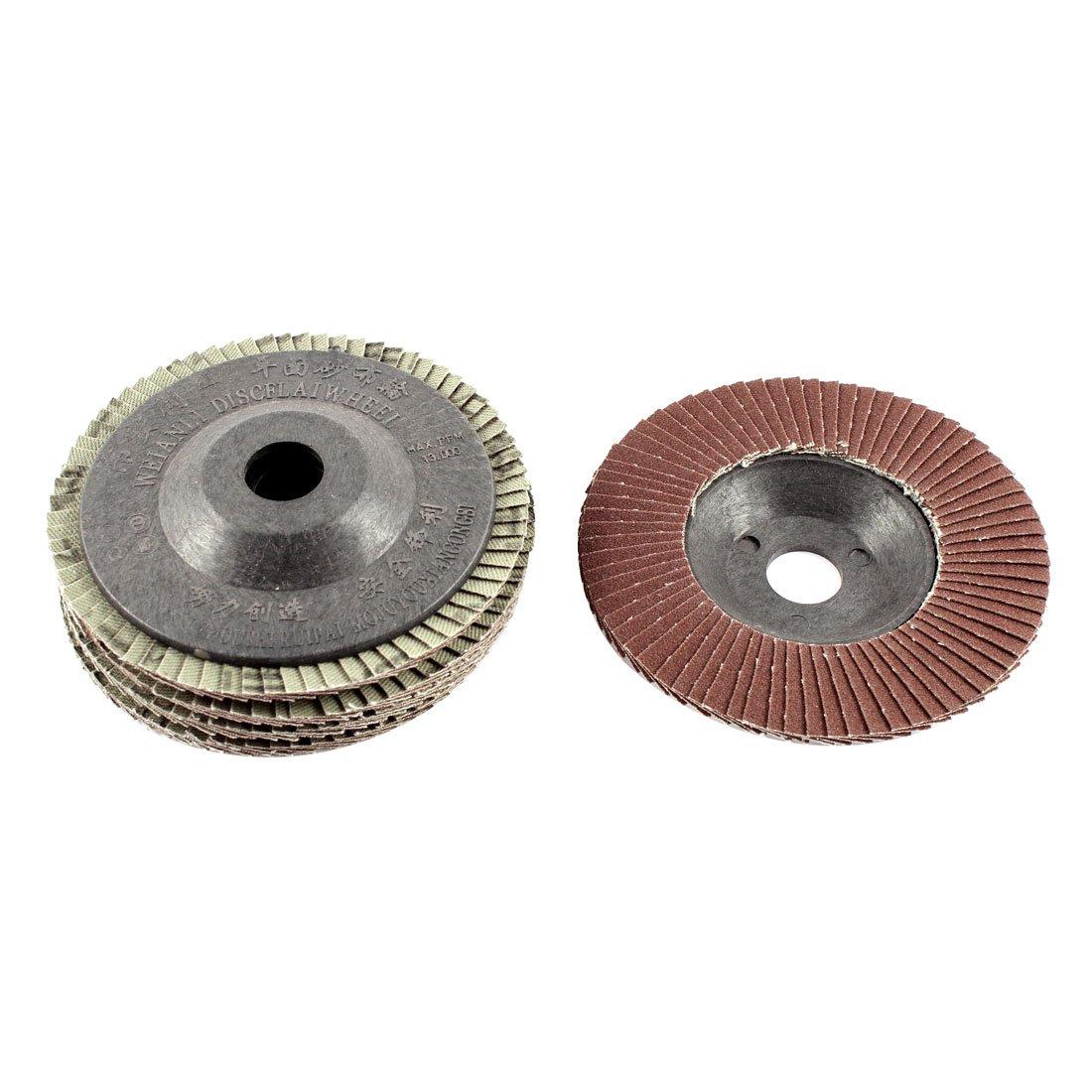 uxcell 4'' x 5/8'' 120 Grit Flap Sanding Discs Polish Grinding Wheel 5pcs