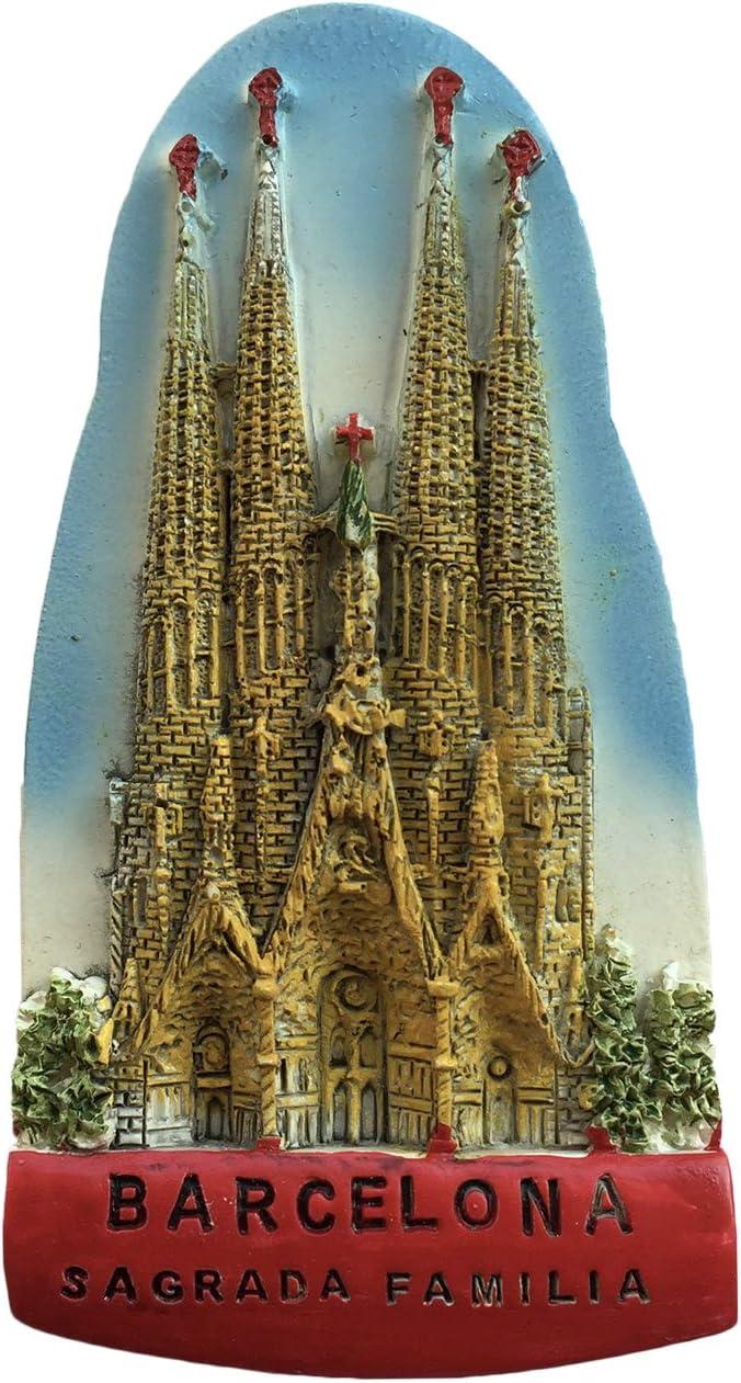 Barcelona España Sagrada Familia 3D Imán Refrigerador Recuerdos Turísticos Resina Pegatinas Magnéticas Imán de Nevera Hogar y Cocina Decoración de China: Amazon.es: Hogar