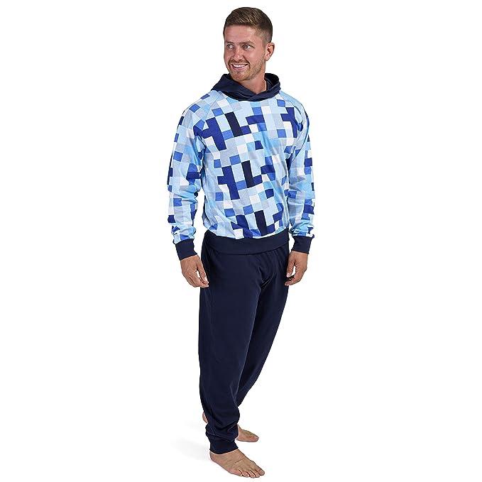 Pijama Hombre Invierno Sudadera Gimnasio Varios Colores 100% Algodón Mangas Largas Set Suave Cómodo Ropa