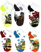 TMNT Teenage Mutant Ninja Turtles Boys 6 pack Socks (Little Kid/Big Kid)
