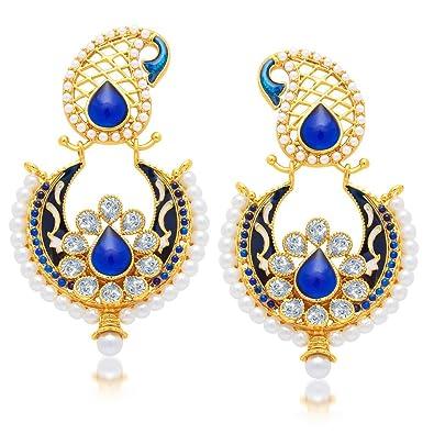 Buy Sukkhi Copper Chand Bali Earrings For Women Golden