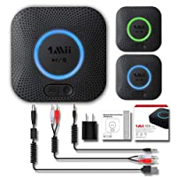 1Mii B06 Plus Bluetooth Receiver, HiFi Wireless Audio Adapter, Bluetooth 4.2 Receiver with 3D Surround aptX Low Latency for Home Music Streaming Stereo System