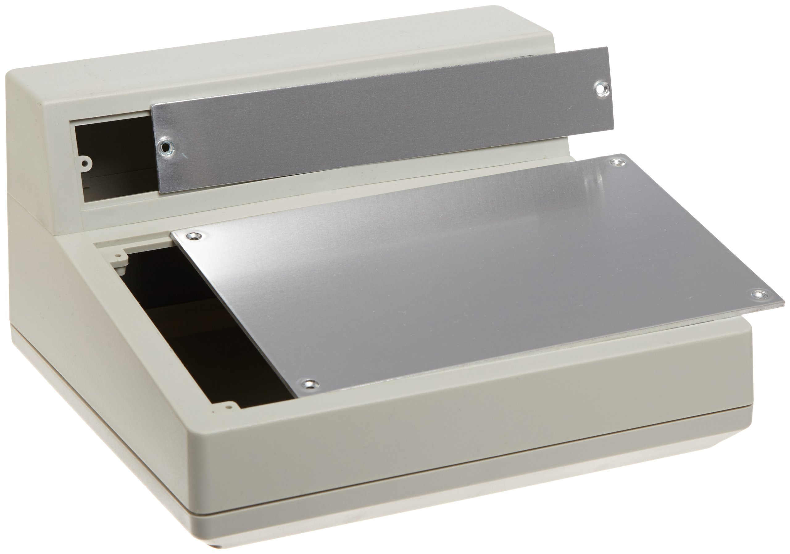 BUD Industries PC-11495 Plastic Style F Box, 9'' Width x 5'' Height x 8-1/2'' Depth, Natural Finish