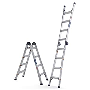 COSCO C208A20T1ASE 2 in 1 Ladder, 12ft Max Reach
