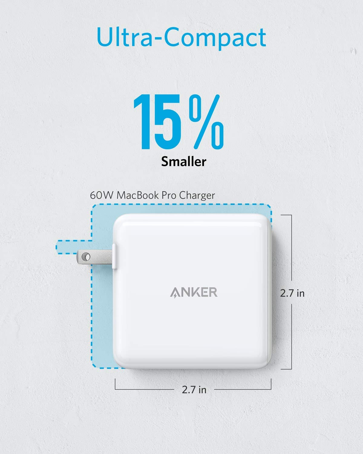 Anker 60W 2-Port USB C Charger, PowerPort Atom PD 2 [GAN Tech] Compact Foldable Wall Charger, Power Delivery for MacBook Pro/Air, iPad Pro, iPhone 11 ...