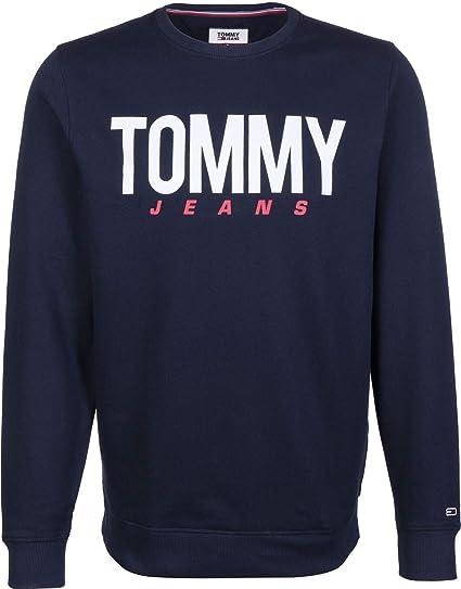 469acbf84 Tommy Jeans Men's TJM Essential Logo Crew Sweatshirt, Blue (Black Iris 002),
