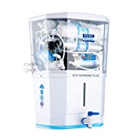 KENT Supreme Plus 2020 (11112), Zero Water Wastage, Wall Mountable, RO + UV + UF + TDS Control + UV in Tank, 8 L Tank, White, 20 LPH Water Purifier