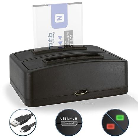 Cargador Doble (USB) NP-BN1 NPBN1 para Sony Cyber-Shot DSC-J… T… TX. W. WX. QX. - Ver Lista de compatibilidad!