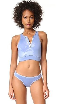 ab984cd75efb7 adidas by Stella McCartney Women's Bikini Top - Blue -: Amazon.co.uk ...