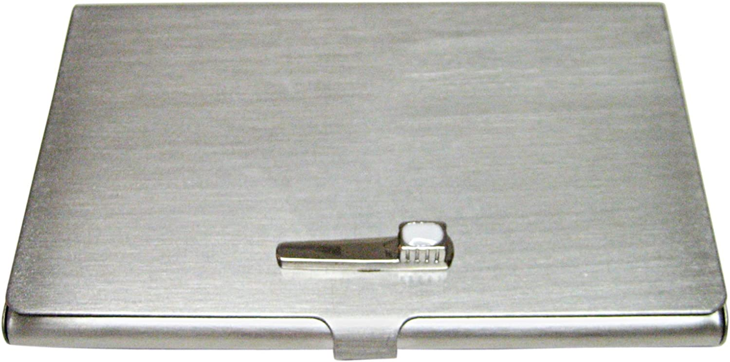 Kiola Designs Silver Toned Etched Dentist Tooth Square Tie Clip