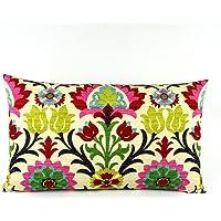 Chloe & Olive Cinco De Mayo Collection - Reversible Floral/Zig Zag Designer Decorative Pillow cover