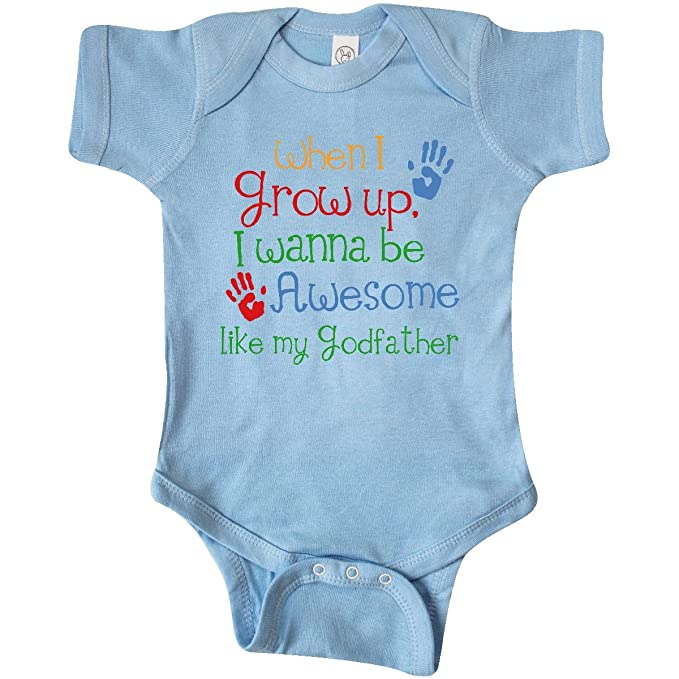 2f88b4f13 inktastic - Awesome Like My Godfather Infant Creeper Newborn Baby Blue 19b02