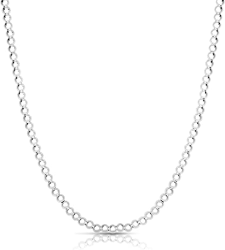 Hand Crafted in Italy Hand Made Sterling Silver Chain.