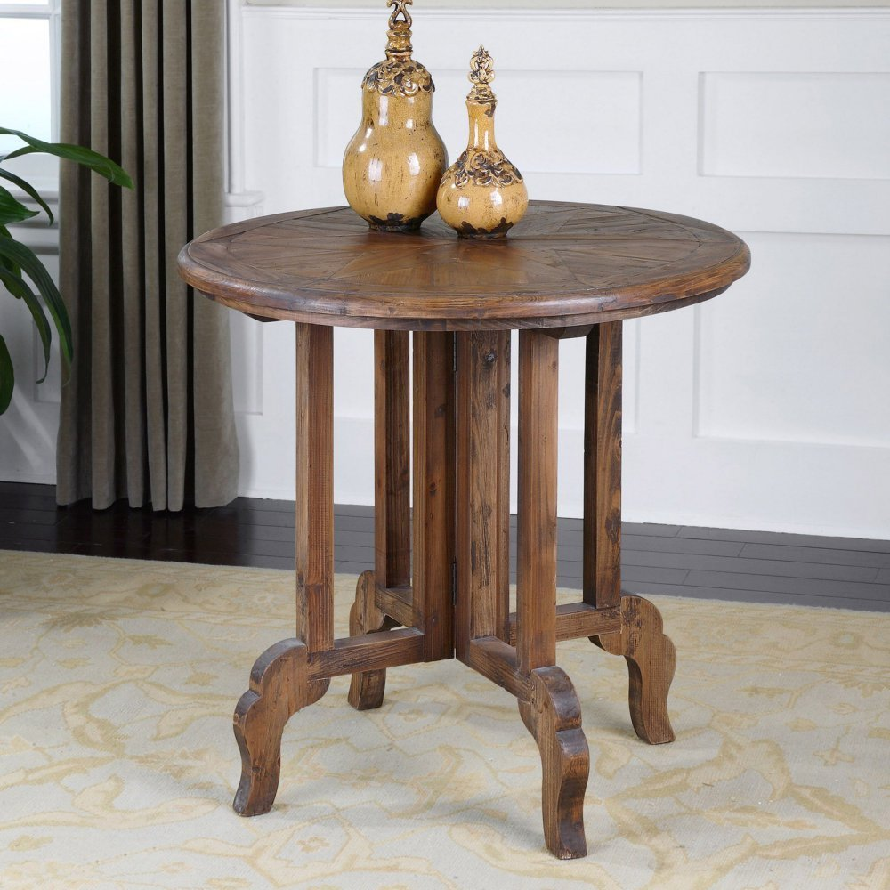 Amazon.com: Uttermost Imber mesa redonda Accent: Matthew ...