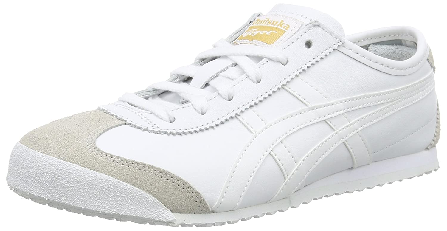 Asics Mexico 66, Zapatillas Unisex, Blanco White 0101, 46 EU