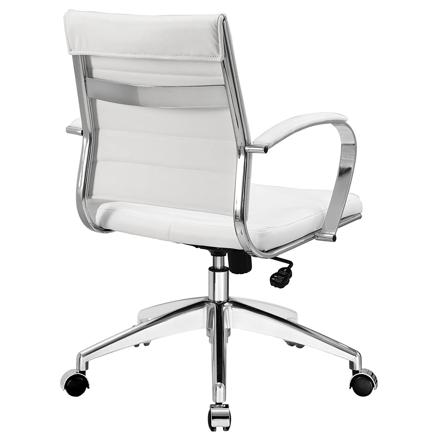 Amazon com  Modway Jive Ribbed Mid Back Executive Office Chair  White  Vinyl  Kitchen   DiningAmazon com  Modway Jive Ribbed Mid Back Executive Office Chair  . Silver Office Chair. Home Design Ideas