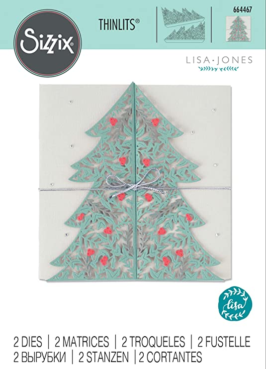 Sizzix Christmas Dies 2021 Ellison 664467 Sizzix Thinlits Dies Xmas Christmas Tree Card Amazon In Home Kitchen