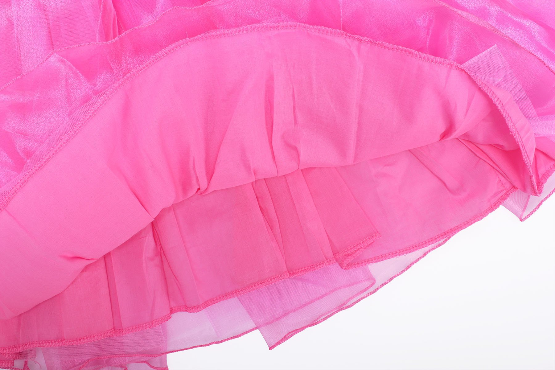 ReliBeauty Girls Drop Shoulder Princess Aurora Costume Dress up, Hot Pink, 7-8 by ReliBeauty (Image #6)