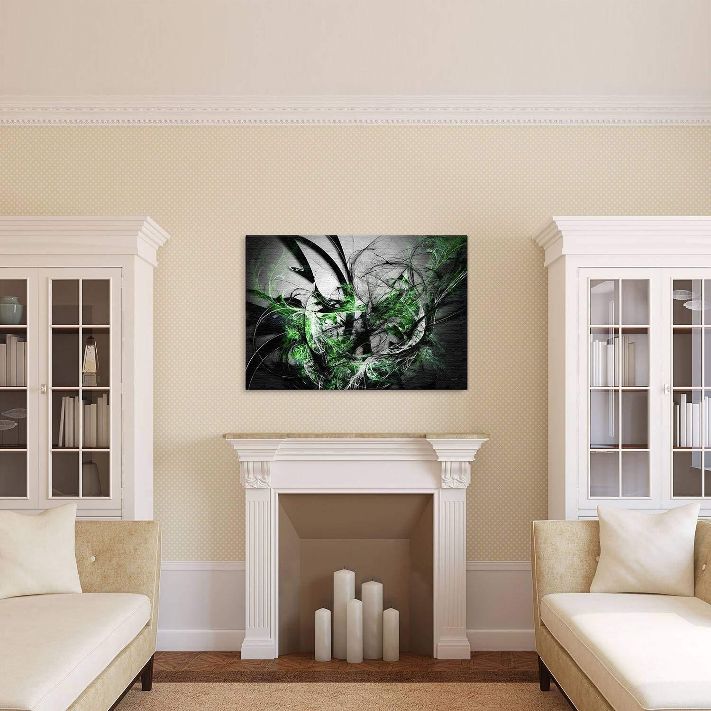 LANA KK Luxus Ausführung Grow SW  Abstraktes Design Design Design auf 4 cm Echtholz, Bunt, 100 x 70 cm B074SXNN6T Keilrahmen Modern 04a687