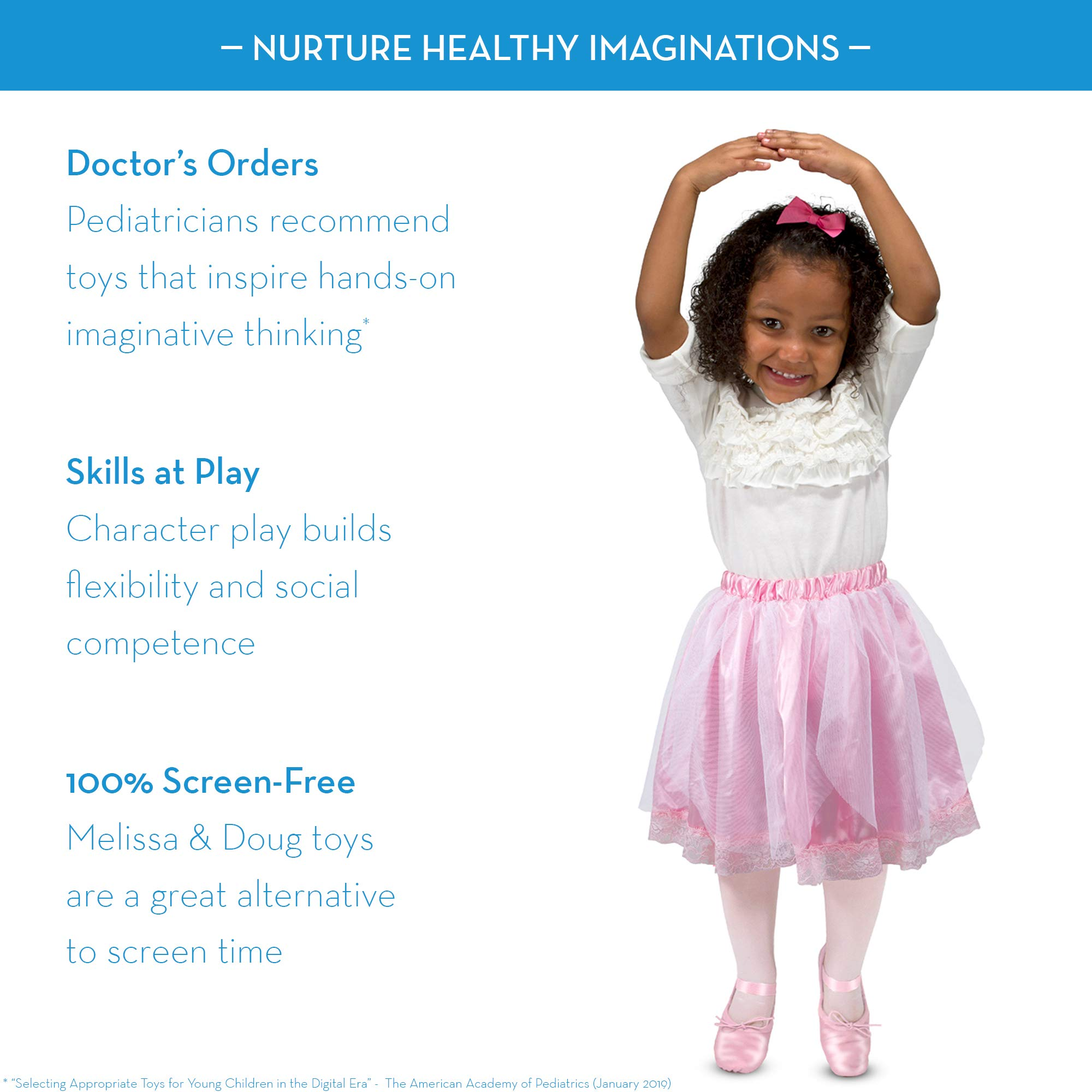 Pretend Play, 4 Dress-Up Costume Skirts Melissa /& Doug Role Play Collection Goodie Tutus!