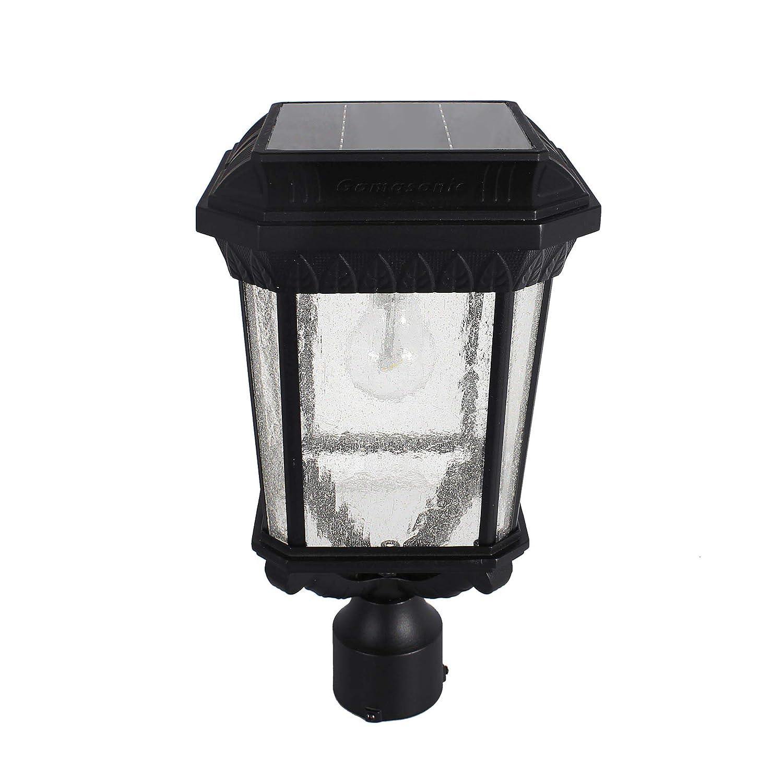 075358fb1 GAMA SONIC Colonial Solar Post Light, Outdoor Solar Powered LED Light, Post  Mount, Black (GS-18F) - - Amazon.com