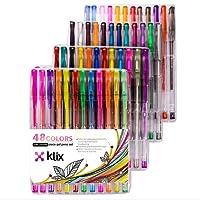 Glitter Gel Pens Set 48 Sparkly Colors Premium Quality Gel Pens for Adult Coloring Books Mandalas Crafting Doodling Drawing Scrapbooking