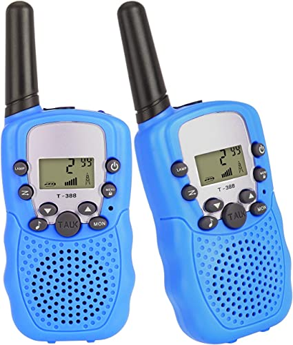 Swiftion Rechargeable Kids Walkie Talkies 22 Channel 0.5W FRS//GMRS Walkie Talkie for Kids 2 Way Radios with Charger and Rechargeable Batteries Blue