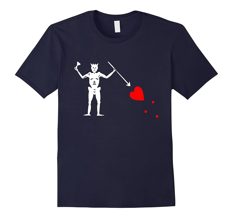 Blackbeard's Jolly Roger Pirate Flag T-Shirt-Art