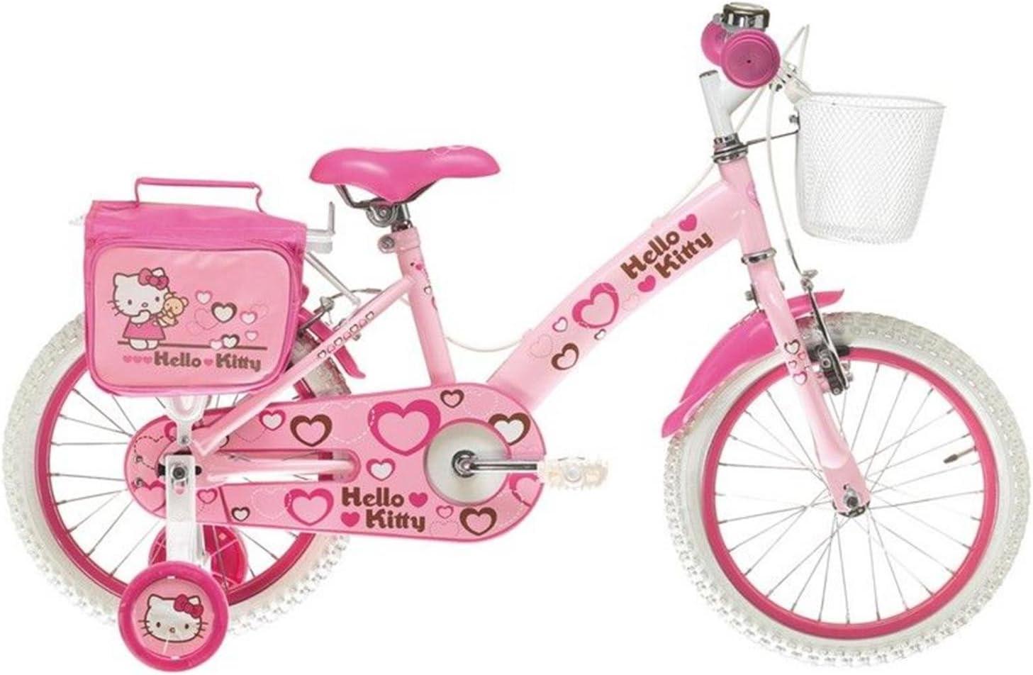 HELLO KITTY Bicicleta Corazones 16 Rosa: Amazon.es: Deportes y ...